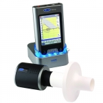MicroLoop - Spiromètre ambulatoire PDA avec station USB et accessoires