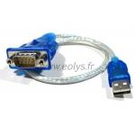 Adaptateur USB-Série DB9 pour port COM virtuel de PC sans port série
